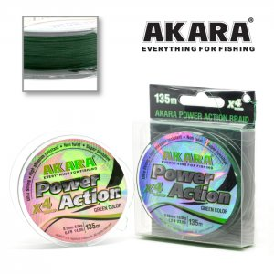 Плетёный шнур Akara Power Action X-4 Green 135 м