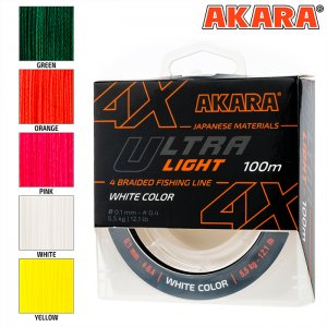 Плетёный шнур Akara Ultra Light X-4 (100м)