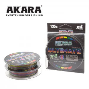 Плетёный шнур Akara Ultimate X-4 MultiColor 135 м