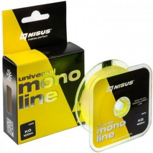 Леска Nisus MONOLINE Fluorescent Yellow Nylon (100м)